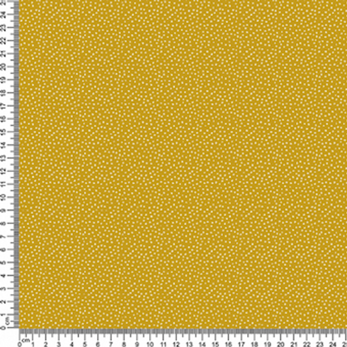 Mustard/Ivory Speckle Cotton Print Fabric