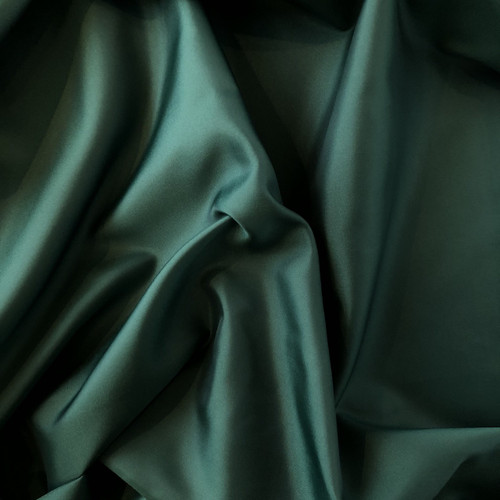 Bottle Green Anti-Static Polyester Lining Fabric