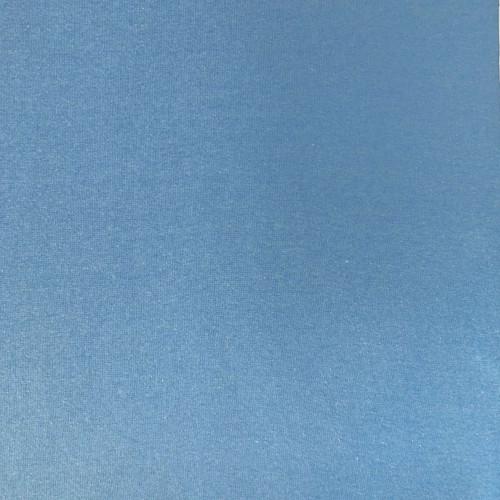 Sky Blue Melange Tubular Ribbing Fabric