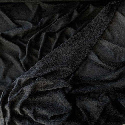 Black Knitted Iron on Interfacing