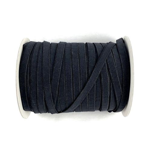 Black 9mm Plush Back Elastic