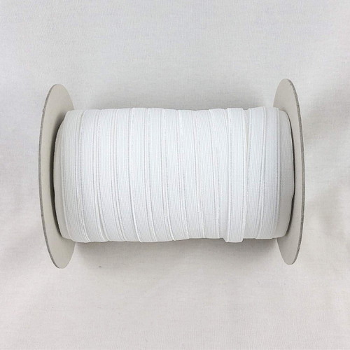 White 9mm Plush Back Elastic