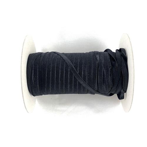 Black 7mm Plush Back Elastic