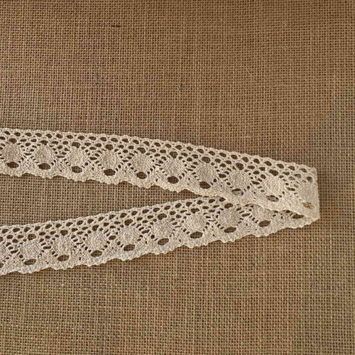 Cream Sun 40mm Cotton Lace