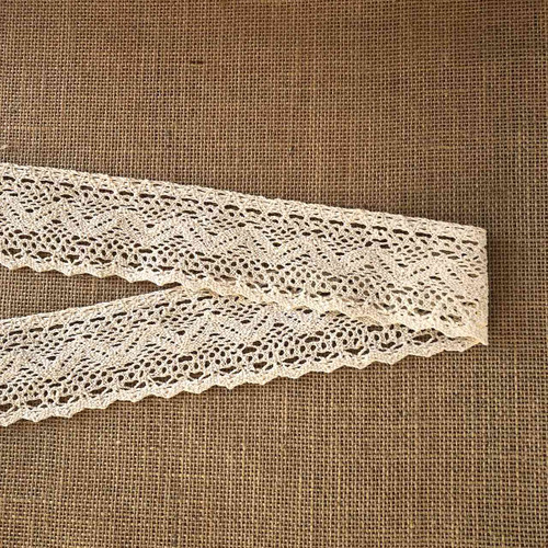 Cream Zig Zag 60mm Cotton Lace