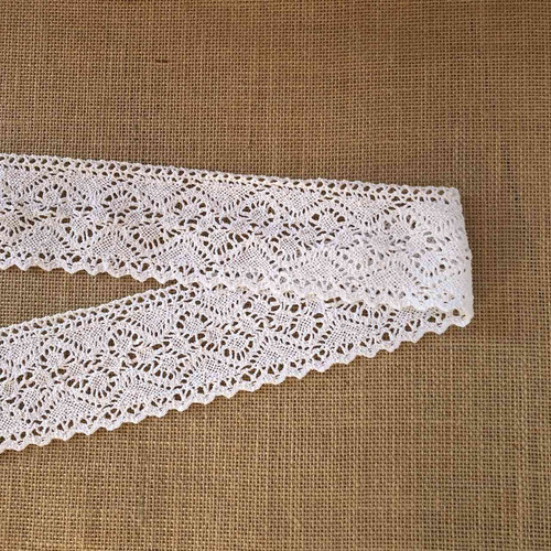 White Wide 78mm Cotton Lace