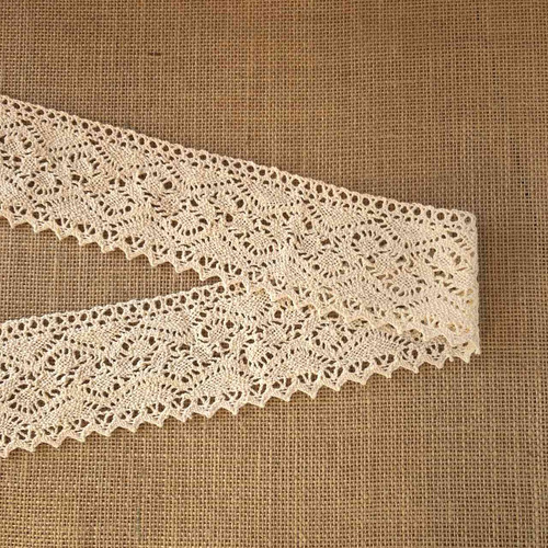 Cream Wide 78mm Cotton Lace