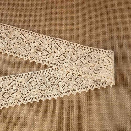 Cream Wide 78mm Cotton Lace