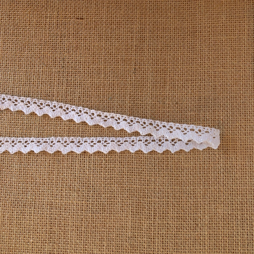 White Zig Zag 15mm Cotton Lace