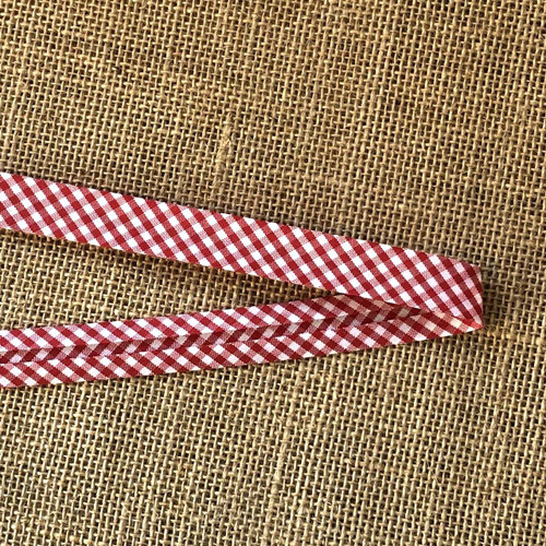 Red Gingham Bias Binding