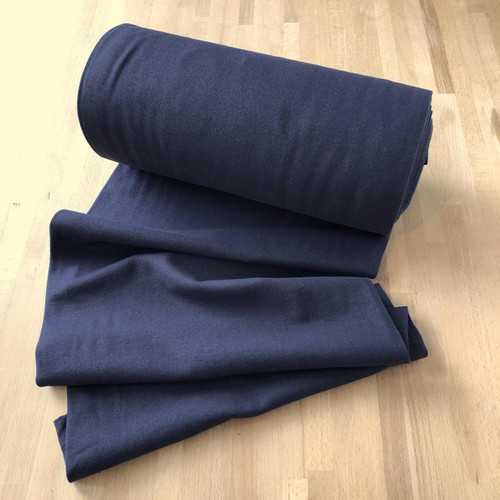 Navy Cuffing Tubular Fabric