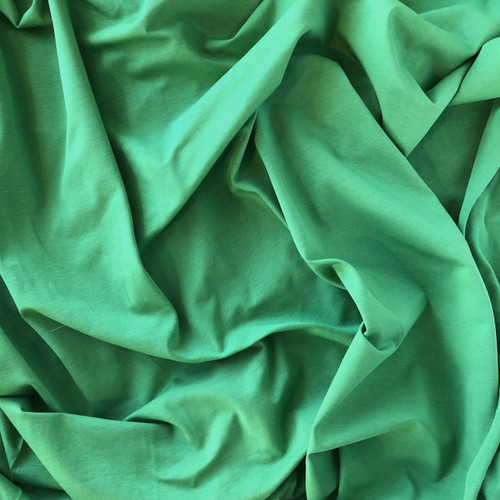 Green Cotton/Elastane Jersey Fabric