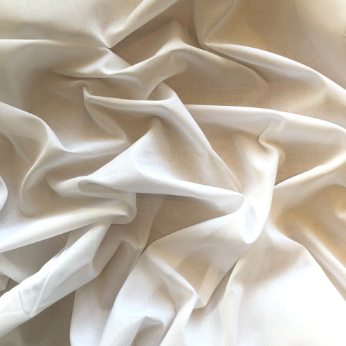 White Cotton Lawn Fabric