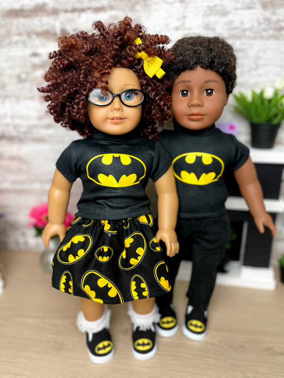 Bat lovers 18 inch doll outfit