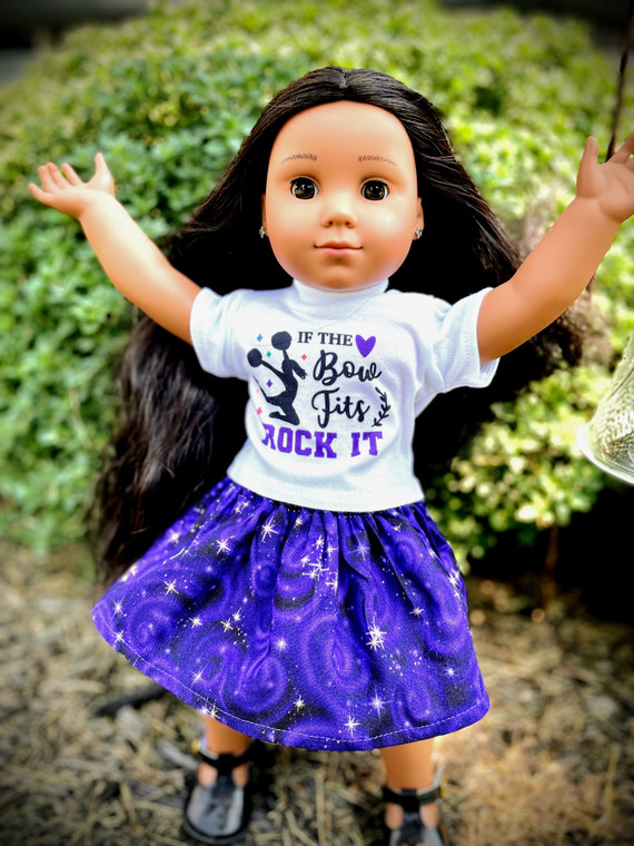 If the Bow fits inspired 18 inch doll outfit
