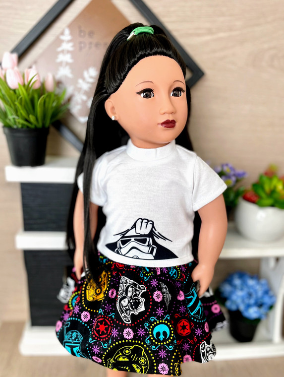 Storm trooper inspired 18 inch doll outfit