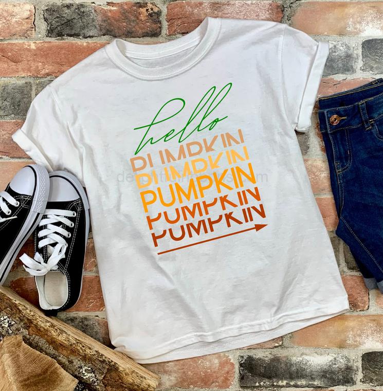 Hello Pumpkin Graphic Tee, Youth
