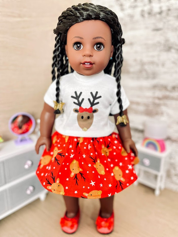 Reindeer 18 inch doll outfit