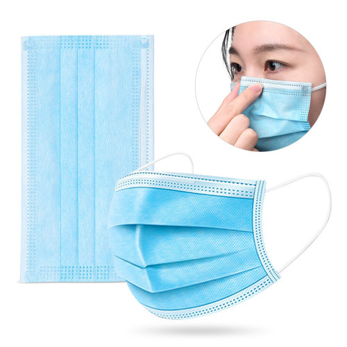 3-layer Disposable Masks for Personal Protection  - 100 count