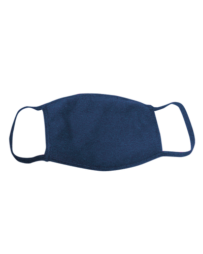 ********MADE IN THE U.S.A********* Reusable Cotton Poly Face Mask, Heather Navy 1 count