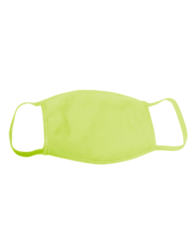 ********MADE IN THE U.S.A********* Reusable Cotton Poly Face Mask, Bright Lime 1 count