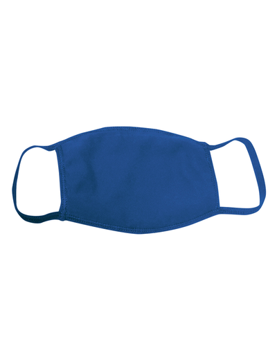 ********MADE IN THE U.S.A********* Reusable 100% Cotton Face Mask, Royal 1 count