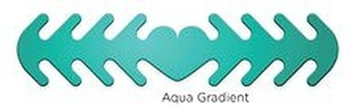 ********MADE IN THE U.S.A********* Reusable Mask Backer, Aqua Gradient 1 count