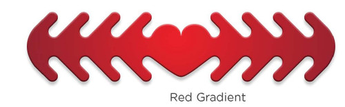 ********MADE IN THE U.S.A********* Reusable Mask Backer, Red Gradient 1 count