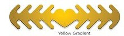 ********MADE IN THE U.S.A********* Reusable Mask Backer, Yellow Gradient 1 count
