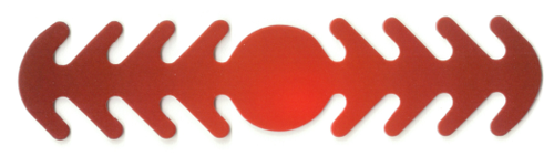 ********MADE IN THE U.S.A********* Reusable Mask Backer, Red Gradient Circle 1 count