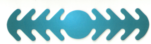 ********MADE IN THE U.S.A********* Reusable Mask Backer, Blue Gradient Circle 1 count