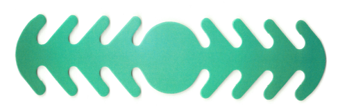 ********MADE IN THE U.S.A********* Reusable Mask Backer, Aqua Gradient Circle 1 count
