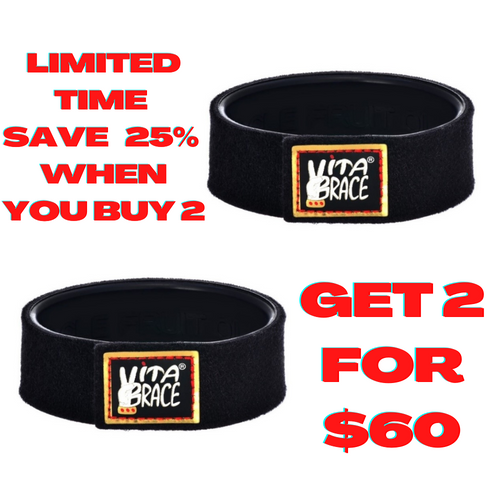 2 Vitabrace® High Performance Wristbands