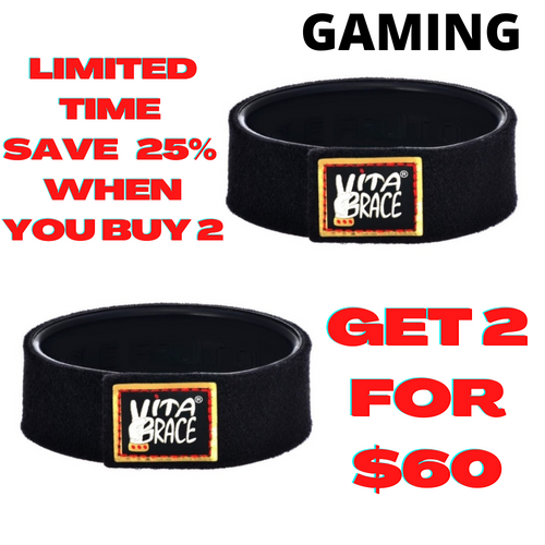 2 Vitabrace® High Performance Gamer Wristbands Limited Edition