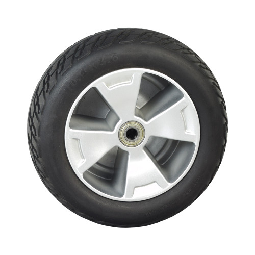 USED 10.4x3.6 Front Wheel Assembly with Black Flat-Free Tire for the 3-Wheel Pride Victory 10 (SC610)