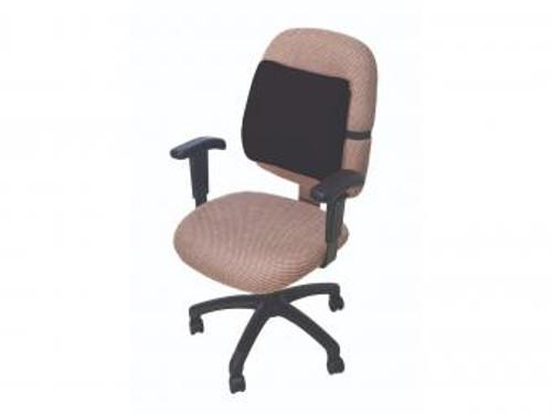 Lumbar Cushion with Elastic Strap - Black Cover