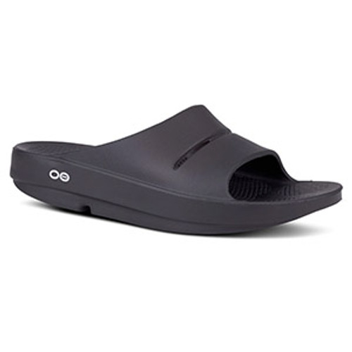 OOFOS - Unisex OOahh - Post Exercise Active Sport Recovery Slide Sandal - Black