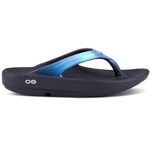 OOFOS - Women's OOlala - Post Exercise Active Sport Recovery Thong Sandal - Bluejay