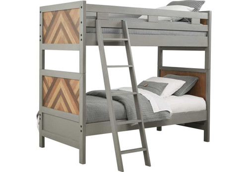 MOSS CREEK JR. GRAY TWIN/TWIN BUNK BED