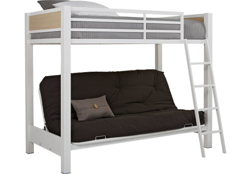 COLEFAX AVENUE WHITE TWIN/FUTON LOFT BED
