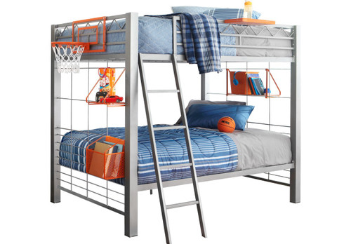 BUILD-A-BUNK GRAY 3 PC TWIN/TWIN BUNK BED