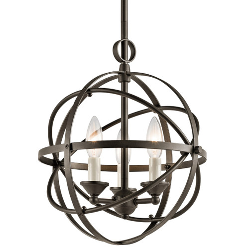 "Miseno SBU155386OZ 3-Light 12"" Wide Candle Style Cage Chandelier"