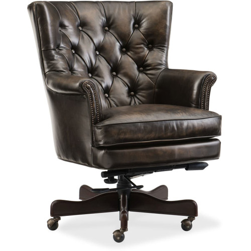 Hooker Furniture EC594-088 Adjustable Height Leather Office Chair from the Theodore Collection