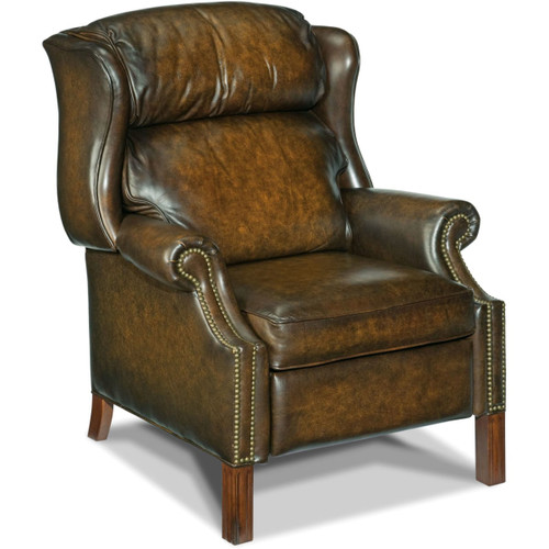 Hooker Furniture RC214-203 33-1/4 Inch Wide Leather Recliner from the Finley Collection