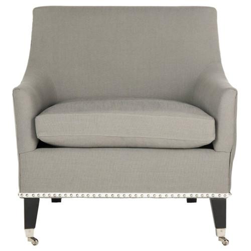 Safavieh MCR4206A Barlow 31.1 Inch Tall Linen Side Chair