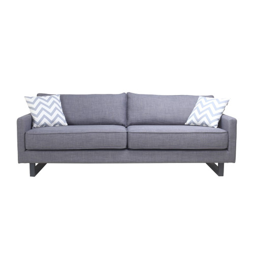 Moes Home Collection RN-1033-35 Valerio 84 Inch Wide Wood Frame Sofa with Polyester Upholstery