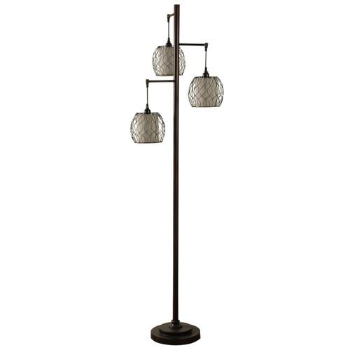 Delacora SC-DE-A729 Sandy Oaks 72'' Tall Tree Style Floor Lamp with Hardback Fabric Shade