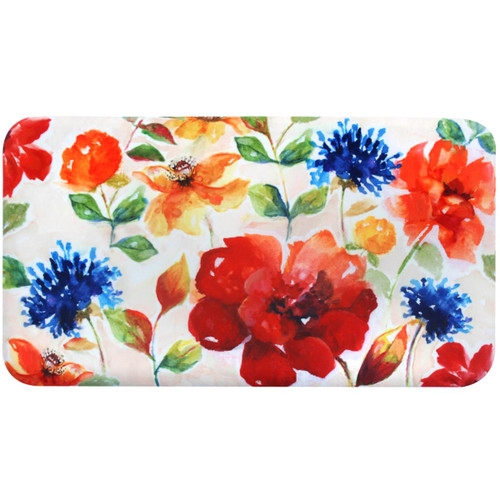 Home Dynamix 2N-PK04-00 Premier Kitchen 2' x 3' Synthetic Floral Kitchen Mat