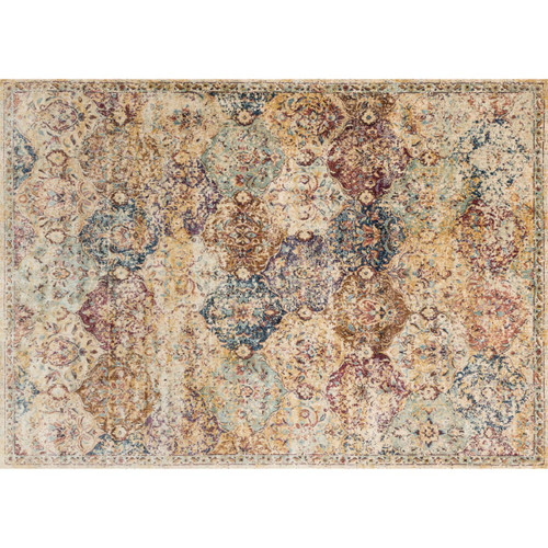 Loloi Rugs ANASAF-12IVML7AAA Anastasia 8' x 10' Rectangle Synthetic Power Loomed Transitional Area Rug