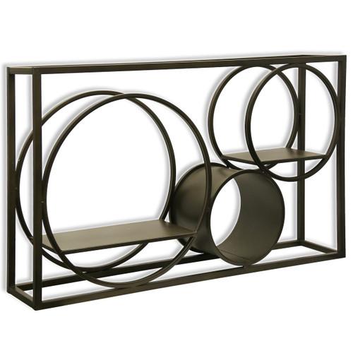 "Harp and Finial HFW42626DS Matson 39-1/2"" x 23-1/2"" Metal Wall Shelf"